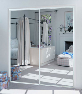 Use Mirrored Closet Doors And Mirror Sliding ...