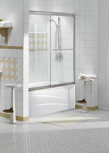Shower Enclosures Sliding Tub Doors Opulence Frameless